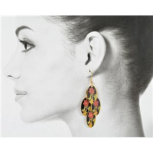 1p Filigree Golden Hook Earrings New Collection 78811