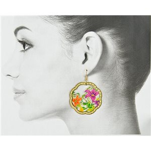 1p Filigree Golden Hook Earrings New Collection 78828