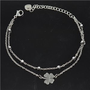 Double Row Stainless Steel Bracelet L17-21cm New Collection 79217