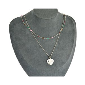NEW Pretty Pendant Necklace on fine chain all in Stainless Steel 79442