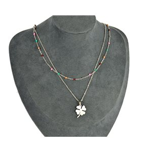 NEW Pretty Pendant Necklace on fine chain all in Stainless Steel 79445