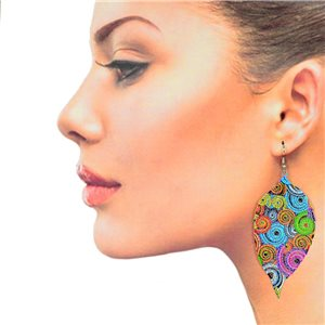1p Filigree Hook Earrings Silver New Collection 78851