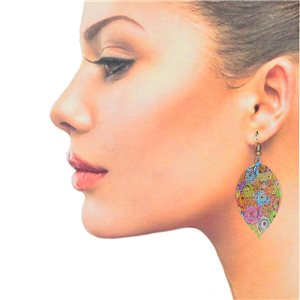 1p Filigree Hook Earrings Silver New Collection 78852