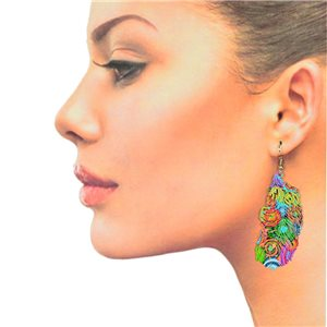 1p Filigree Hook Earrings Silver New Collection 78860