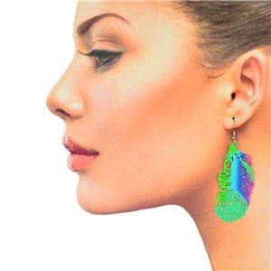 1p Filigree Hook Earrings Silver New Collection 78861
