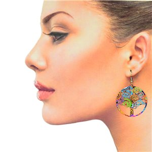 1p Filigree Hook Earrings Silver New Collection 78868