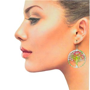 1p Filigree Hook Earrings Silver New Collection 78869