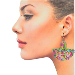 1p Filigree Hook Earrings Silver New Collection 78881