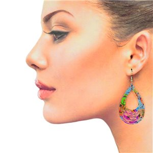 1p Filigree Hook Earrings Silver New Collection 78886