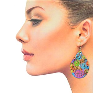 1p Filigree Hook Earrings Silver New Collection 78889