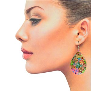 1p Filigree Hook Earrings Silver New Collection 78890