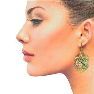 1p Filigree Hook Earrings Silver New Collection 78892
