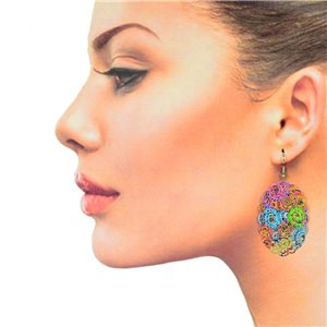 1p Filigree Hook Earrings Silver New Collection 78893