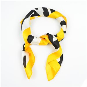 Square Satin Scarf 70 * 70cm in Polyester, silk effect touch - New Collection 79492