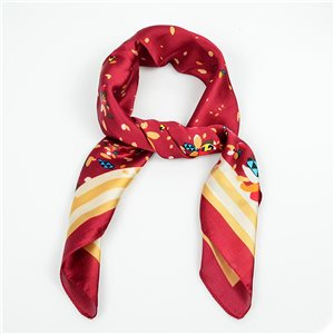 Square Satin Scarf 70 * 70cm in Polyester, touch silk effect - New Collection 79497