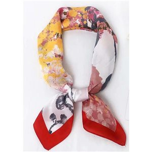 Square Satin Scarf 70 * 70cm in Polyester, silk-effect touch - New Collection 79499
