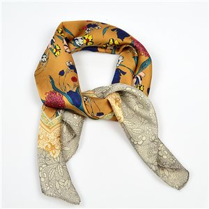 Square Satin Scarf 70 * 70cm in Polyester, touch silk effect - New Collection 79501