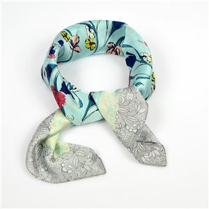 Square Satin Scarf 70 * 70cm in Polyester, silk effect touch - New Collection 79502