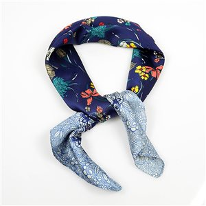 Square Satin Scarf 70 * 70cm in Polyester, silk-effect touch - New Collection 79503