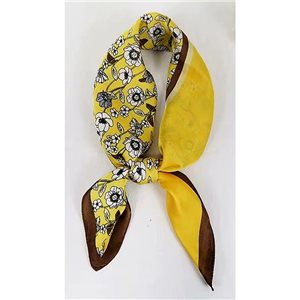 Square Satin Scarf 70 * 70cm in Polyester, silk effect touch - New Collection 79505