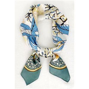 Square Satin Scarf 70 * 70cm in Polyester, silk effect touch - New Collection 79508