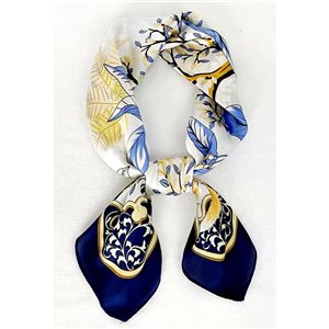 Square Satin Scarf 70 * 70cm in Polyester, silk effect touch - New Collection 79509