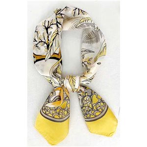 Square Satin Scarf 70 * 70cm in Polyester, silk effect touch - New Collection 79510