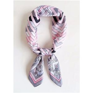 Square Satin Scarf 70 * 70cm in Polyester, silk-effect touch - New Collection 79532