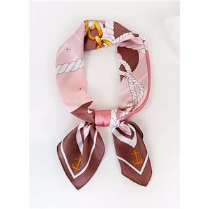 Square Satin Scarf 70 * 70cm in Polyester, silk effect touch - New Collection 79548