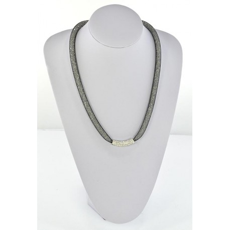 Collier Top Mode Resille Strass L55cm 64491