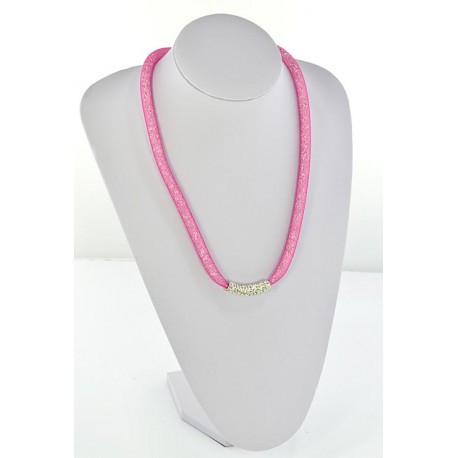 Collier Top Mode Resille Strass L55cm 64497