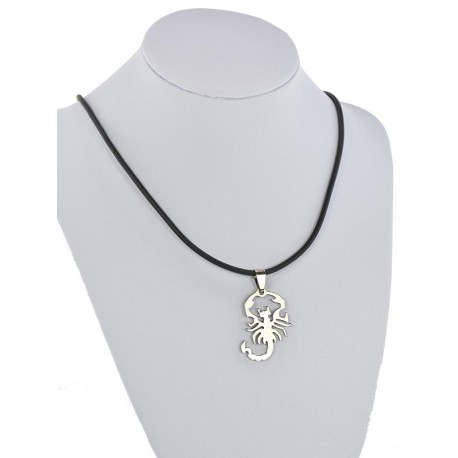 Pendant Necklace Stainless Steel on 64682 Silicone L50cm