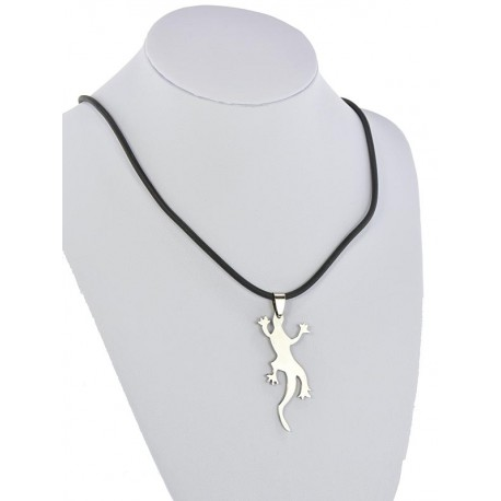 Pendant Necklace Stainless Steel on 64686 Silicone L50cm