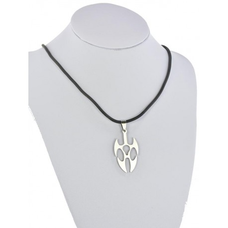 Pendant Necklace Stainless Steel on 64687 Silicone L50cm