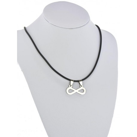 Pendant Necklace Stainless Steel on 64691 Silicone L50cm