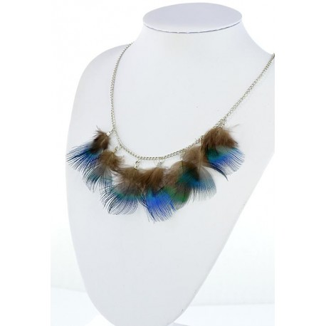 Collection Fashion Feather Necklace on chain L60cm 64700
