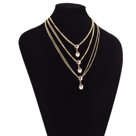 Chain Necklace gold metal Fashion Chic Fashion L57cm 65341