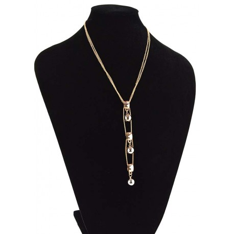 Chain Necklace gold metal Fashion Chic Fashion L57cm 65343
