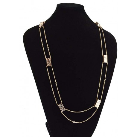 Collier Sautoir métal doré Fashion Mode Chic L1m 65344