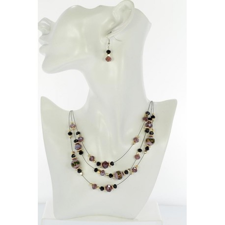 Adornment Collier Suspension 3 Rank Beads and Jewelry 65356