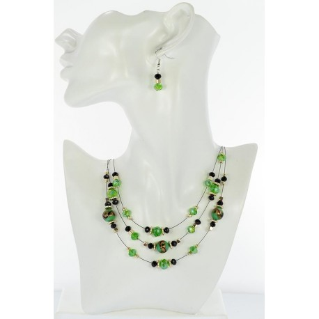 Adornment Collier Suspension 3 Rank Beads and Jewelry 65357