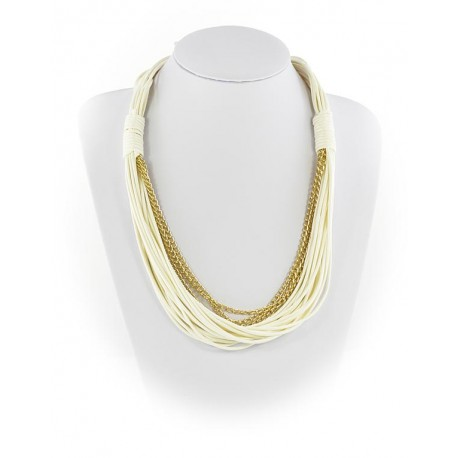 Collier Fashion Ete aspect Cordes sur Chaines L55cm 65603