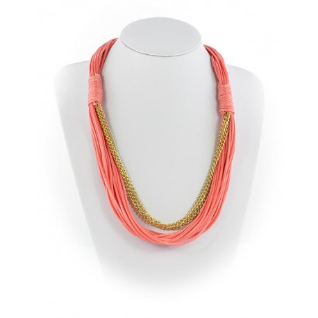 Collier Fashion Ete aspect Cordes sur Chaines L55cm 65605