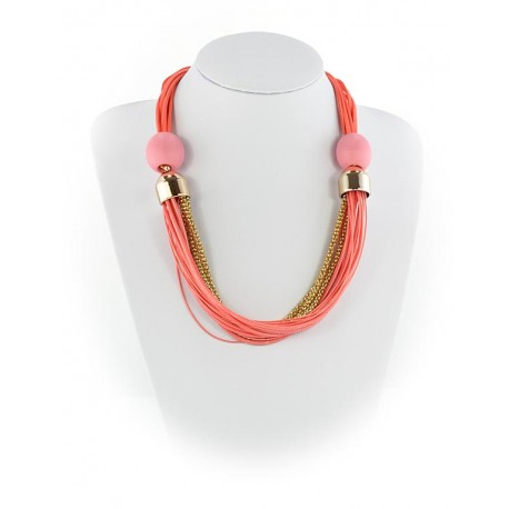 Summer Fashion Leather Necklace String-appearance on Channels L55cm 65616