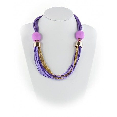 Summer Fashion Leather Necklace String-appearance on Channels L55cm 65619