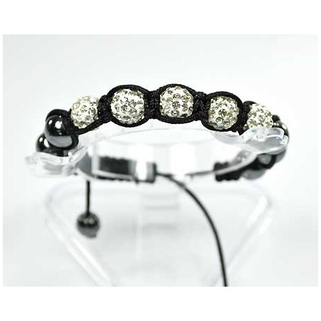 5 Adjustable Bracelet Rhinestone Balls Pierre 56557