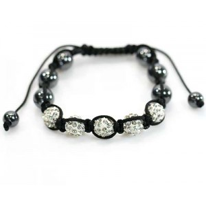 5 Adjustable Bracelet Rhinestone Balls Pierre 59057