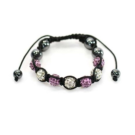 7 Adjustable Bracelet Rhinestone Balls Pierre 59075