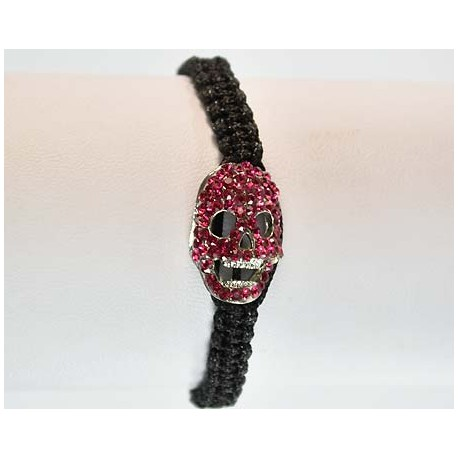 Adjustable Bracelet Tete de Mort Strass 59079