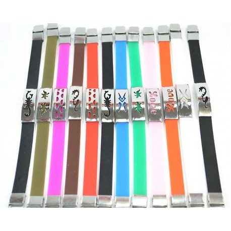 NEW Stainless Steel Bracelet 12 and Silicone 59226